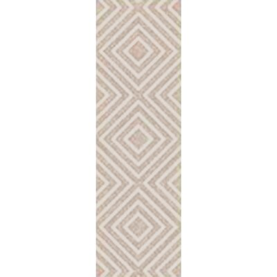 Berkeley Hand-Hooked Khaki/Ivory Area Rug Rug size: Runner 26 x 8