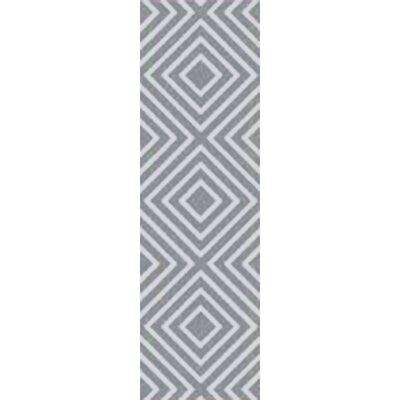 Berkeley Hand-Hooked Teal/Pale Blue Area Rug Rug size: Runner 26 x 10