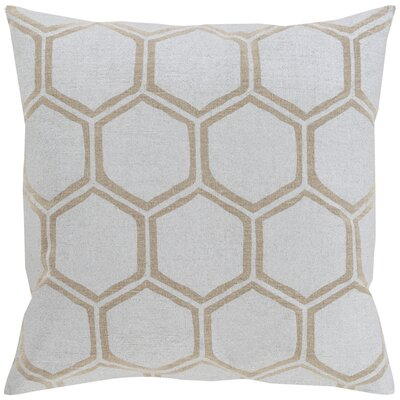 Thorpe 100% Linen Throw Pillow Cover Size: 18 H x 18 W x 1 D, Color: MetallicBrown