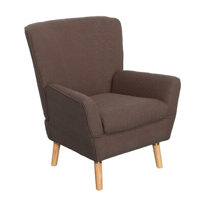 Tatum Armchair Upholstery: Brown