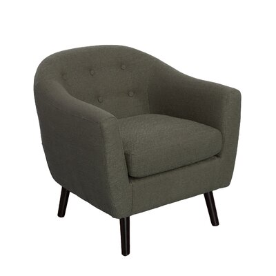 Aldgate Barrel Chair Upholstery: Army Green