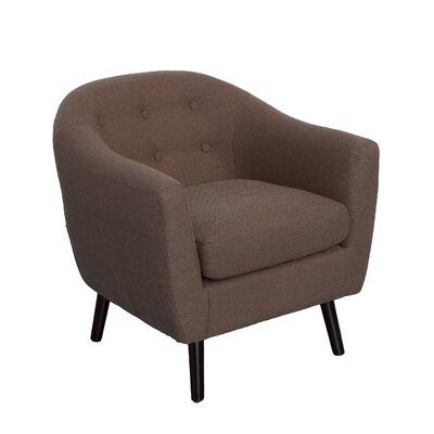 Aldgate Barrel Chair Upholstery: Brown