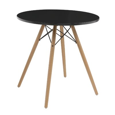 Tyson Dining Table Top Finish: Black, Size: 40 inch W x 40 inch D