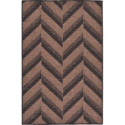 Jordan Brown Outdoor Area Rug Rug Size: 33 x 5