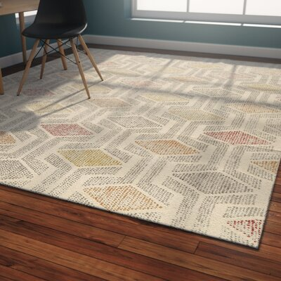 Langley Street Madero Hand-Tufted Ivory/Gray Area Rug