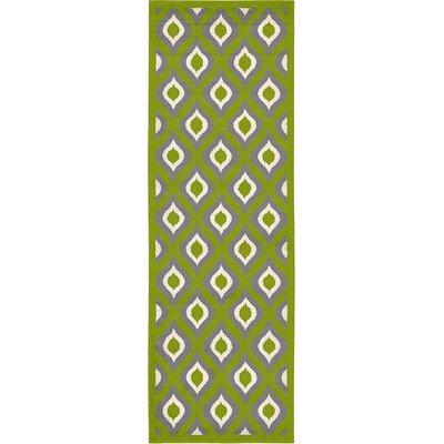 Hacienda Green Area Rug Rug Size: Runner 33 x 10