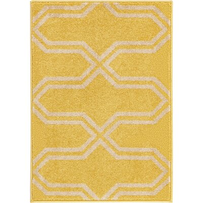 Hacienda Yellow Area Rug Rug Size: 22 x 3