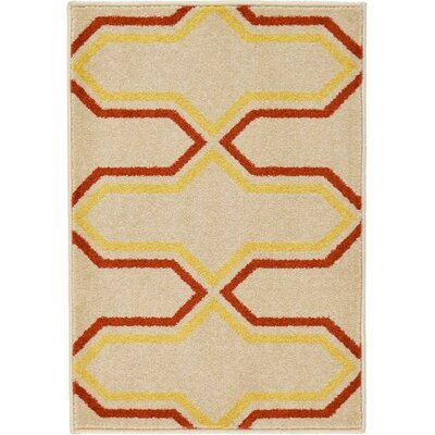 Hacienda Cream Area Rug Rug Size: 4 x 6