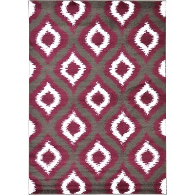 Hacienda Dark Gray Area Rug Rug Size: 7' x 10'