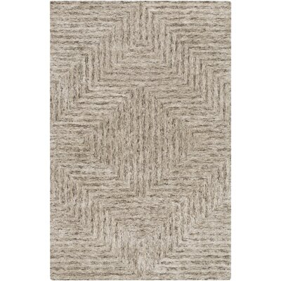 Sylvie Taupe Area Rug Rug Size: Rectangle 5 x 76