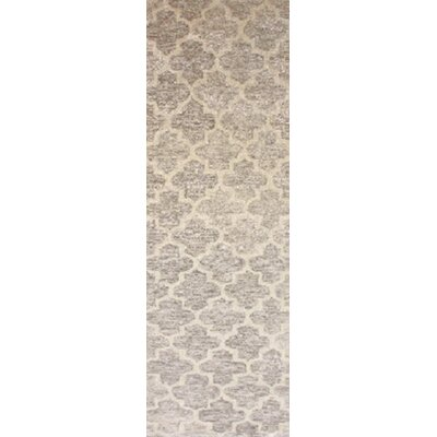 Sylvie Light Gray/Taupe Area Rug Rug Size: Runner 2'6