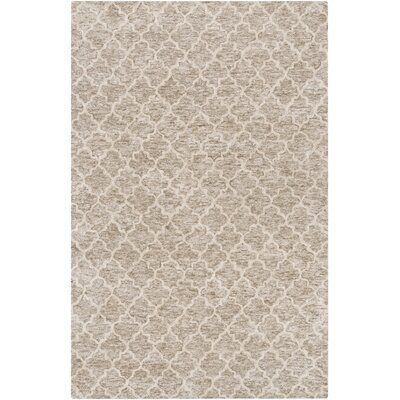 Sylvie Light Gray/Taupe Area Rug Rug Size: 4 x 6