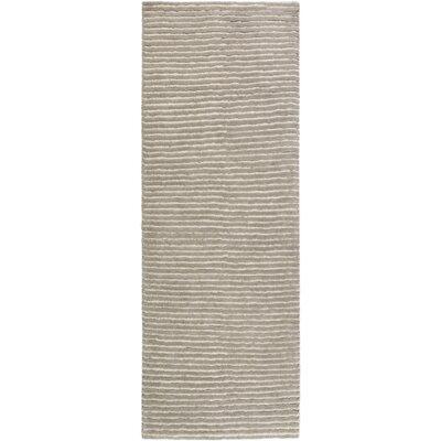 Daniella Hand-Woven Gray Area Rug Rug Size: Runner 26 x 8