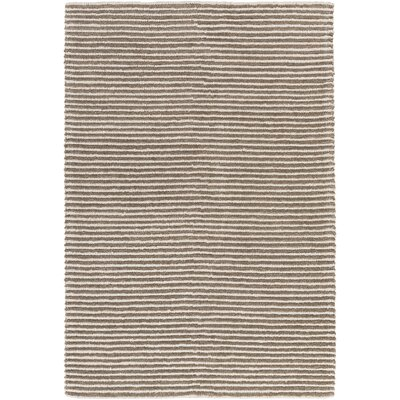 Acton Hand-Woven Camel/White Area Rug Rug size: Rectangle 6 x 9
