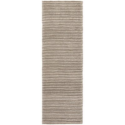 Acton Hand-Woven Camel/White Area Rug Rug size: Runner 26 x 8