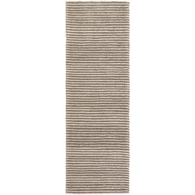 Acton Hand-Woven Dark Brown/Medium Gray Area Rug Rug size: Runner 26 x 8