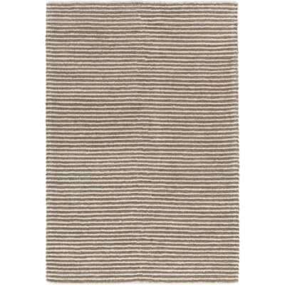 Acton Hand-Woven Dark Brown/Medium Gray Area Rug Rug size: 4 x 6