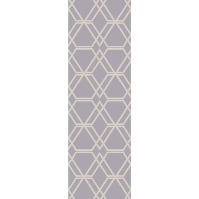 Viminal Hand-Hooked Medium Gray Area Rug Rug size: Runner 26 x 8
