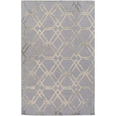Viminal Hand-Hooked Medium Gray Area Rug Rug size: 4' x 6'