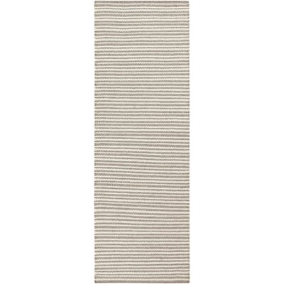 Kathryn Hand-Woven Gray Area Rug Rug Size: Runner 26 x 8