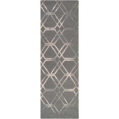 Viminal Hand-Hooked Medium Gray Area Rug Rug size: Runner 2'6