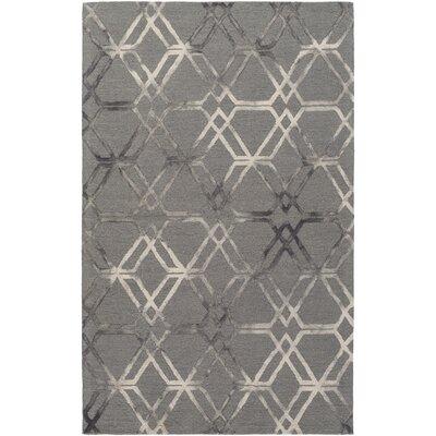 Viminal Hand-Hooked Medium Gray Area Rug Rug size: 6' x 9'
