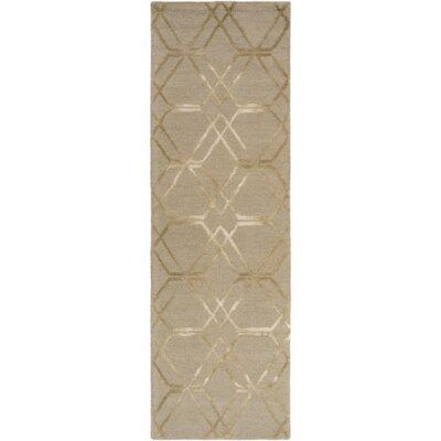 Viminal Hand-Hooked Khaki Area Rug Rug Size: Runner 2'6