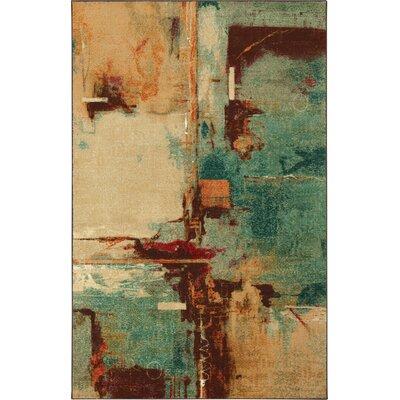 Florencia Aqua/Tan Area Rug Rug Size: Rectangle 5 x 8