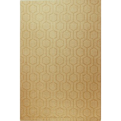 Ogden Hand-Woven Beige Area Rug Rug Size: Rectangle 76 x 96