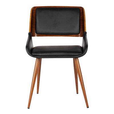 Thelonius Side Chair Upholstery: Black Pu