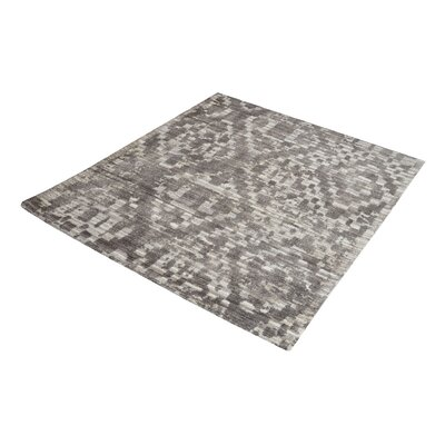 Hattem Hand-Tufted Gray/Cream Area Rug Rug Size: Square 14