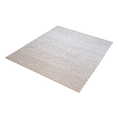 Palm Bay Handmade Beige/White Area Rug Rug Size: Square 14