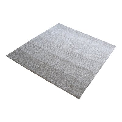 Palm Bay Handmade Gray Area Rug Rug Size: Square 6