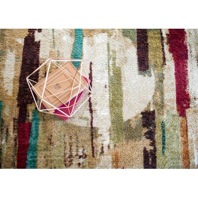 Domenic Tan Area Rug Rug Size: 5 x 8