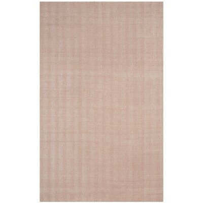 Alexandria Hand-Woven Beige Area Rug Rug Size: Rectangle 6 x 9