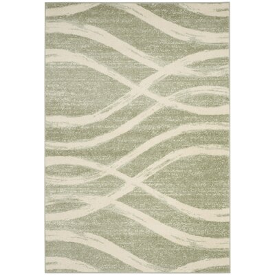 Graciano Beige/Green Area Rug Rug Size: Rectangle 6 x 9