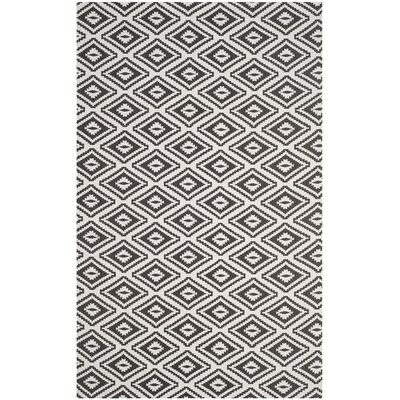 Mission Viejo Hand-Loomed Gray Area Rug Rug Size: Rectangle 5 x 8