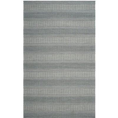 Alexandria Hand-Woven Silver Area Rug Rug Size: Runner 23 x 8
