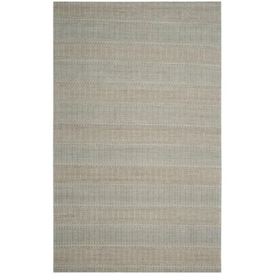 Alexandria Hand-Woven Blue/Gold Area Rug Rug Size: 5 x 8