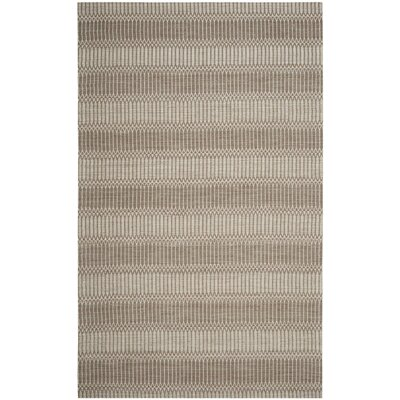 Alexandria Hand-Woven Brown Area Rug Rug Size: Runner 23 x 8