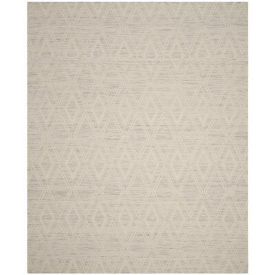 Alexandria Hand-Woven Silver/Ivory Area Rug Rug Size: Rectangle 6 x 9