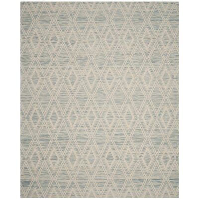 Alexandria Hand-Woven Light Blue/Ivory Area Rug Rug Size: Runner 23 x 8