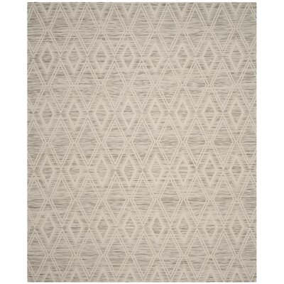 Alexandria Hand-Woven Light Brown/Ivory Area Rug Rug Size: Rectangle 8 x 10