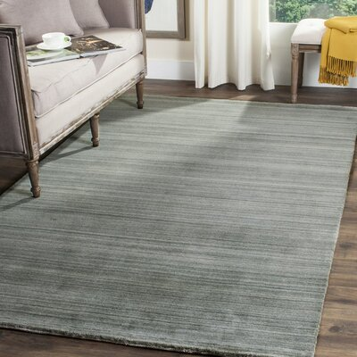 Aghancrossy Hand-Loomed Slate/Blue Area Rug Rug Size: Rectangle 9 x 12