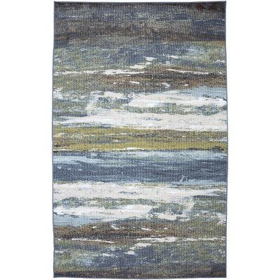 Ballyclare Blue/Spa Abstract Shore Rug Rug Size: 5 x 8