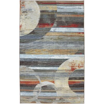 Ballyclare Light Multi Abstract Integrated Geo Rug Rug Size: 5 x 8