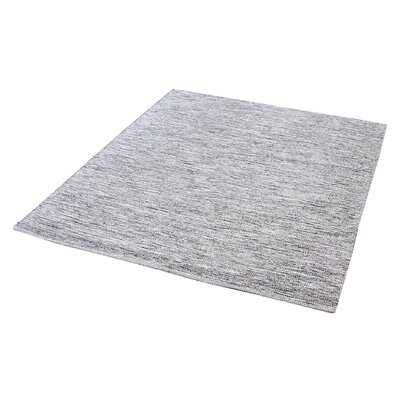Croxley Handmade Black/White Area Rug Rug Size: 3' x 5'