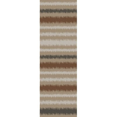 Carlton Brown/Tan Striped Area Rug Rug Size: 8 x 11