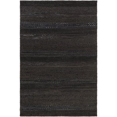 Bennett Hand-Woven Brown/Black Area Rug Rug Size: Rectangle 5 x 76