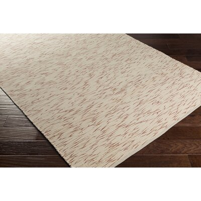 Malaga Hand-Woven Orange/Neutral Area Rug Rug Size: 4 x 6